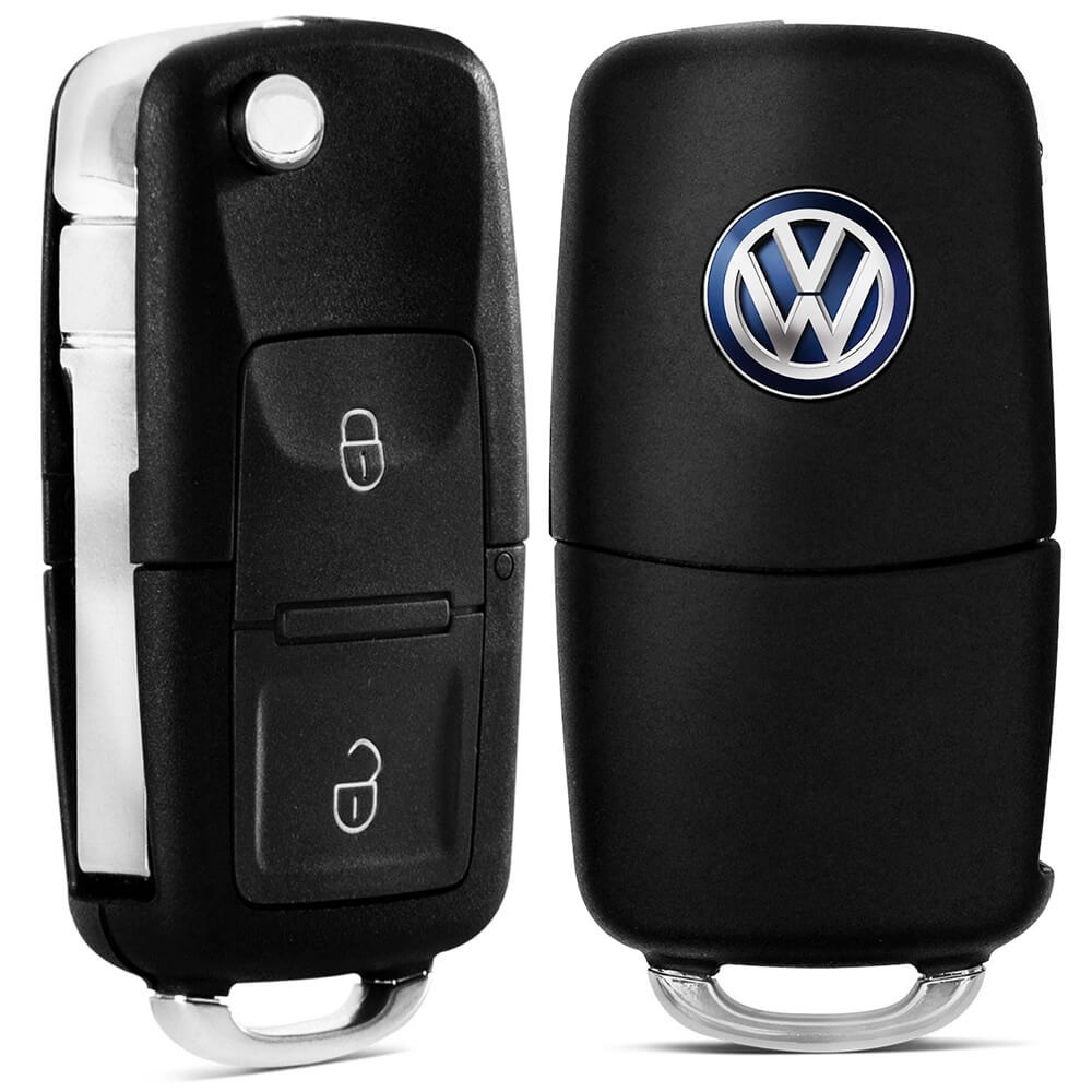 CHAVE CANIVETE MODELO VOLKSWAGEN 2 BOTOES