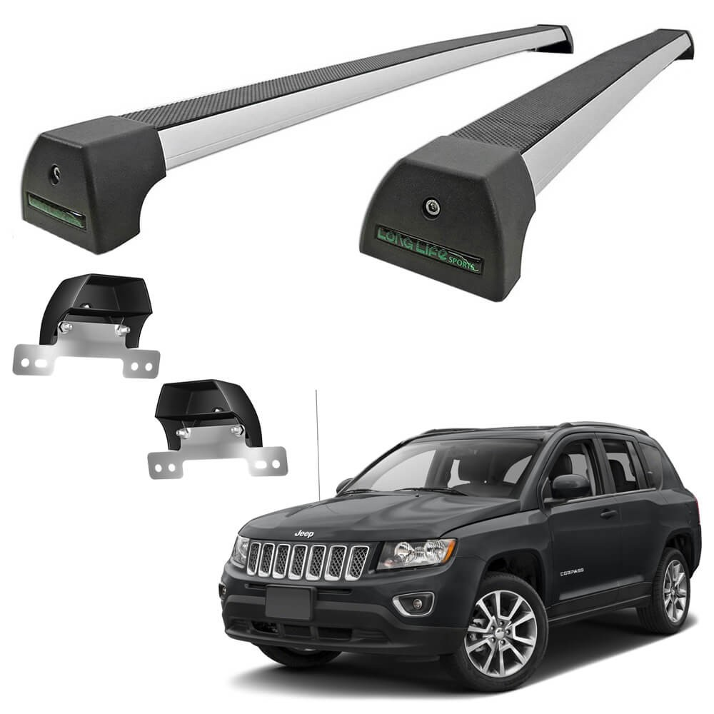 TRAVESSA JEEP COMPASS LONGARINA INTEGRADA SPORT ALUMINIO LONG LIFE