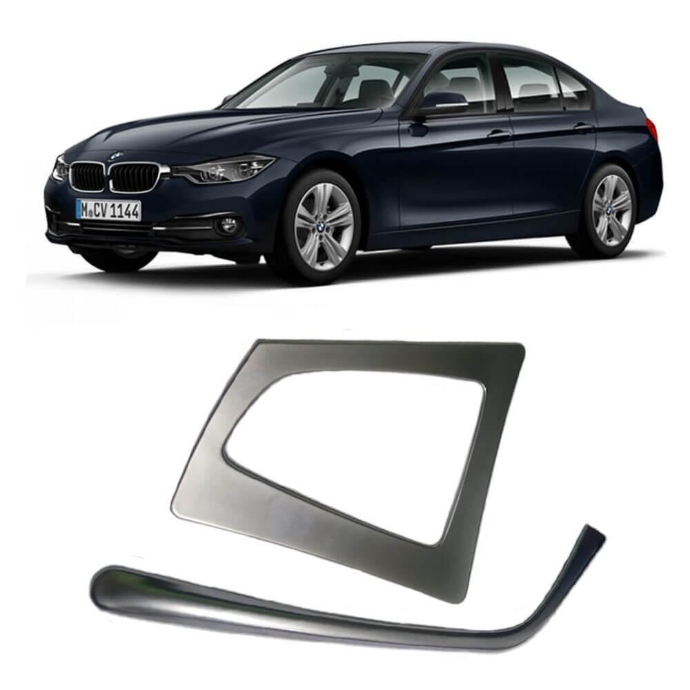 MOLDURA APLIQUE CAMBIO BMW 3 SERIES 2013 A 2018 PLASTICO PRATA MK2