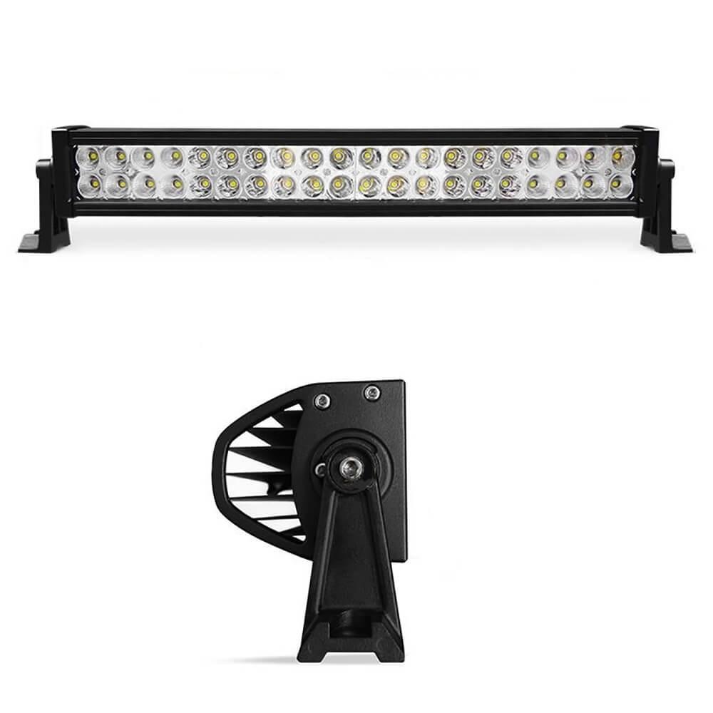 BARRA LED OFFROAD FAROL DE MILHA DUPLO 40 LEDS 56CM 120W 8800 LUMENS LIGHT BAR MK2