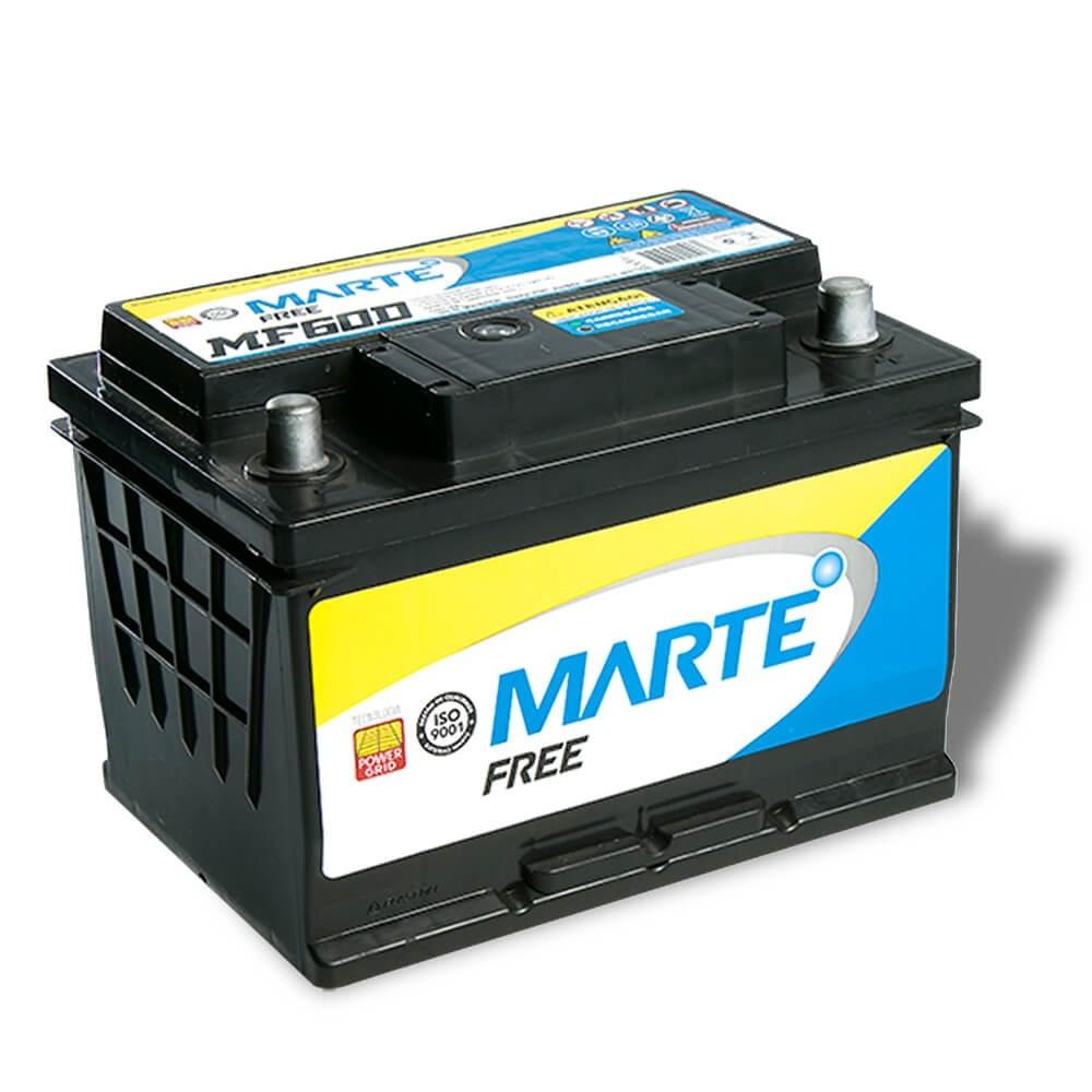BATERIA AUTOMOTIVA MARTE FREE 60 AMPERES 12V 14KG POLO POSITIVO ESQUERDO - F60LD