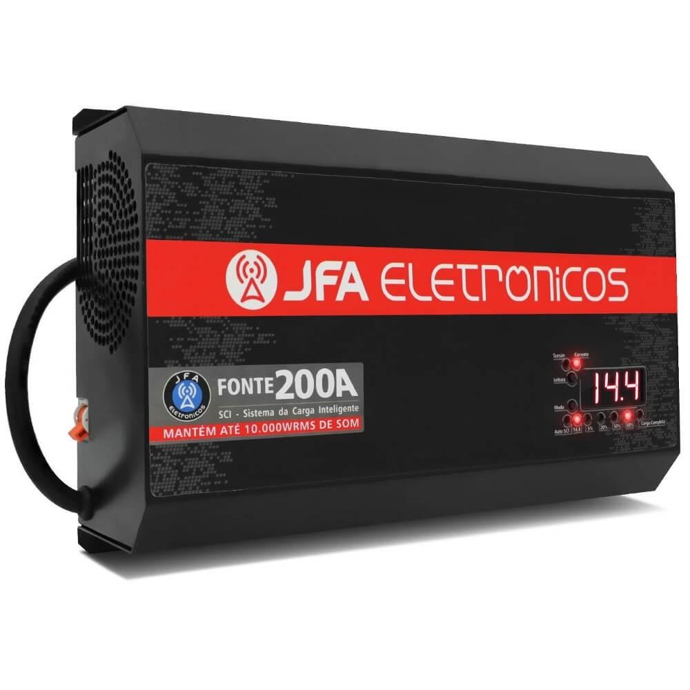 FONTE CARREGADOR DE BATERIA JFA 200A BIVOLT AUTOMÁTICO