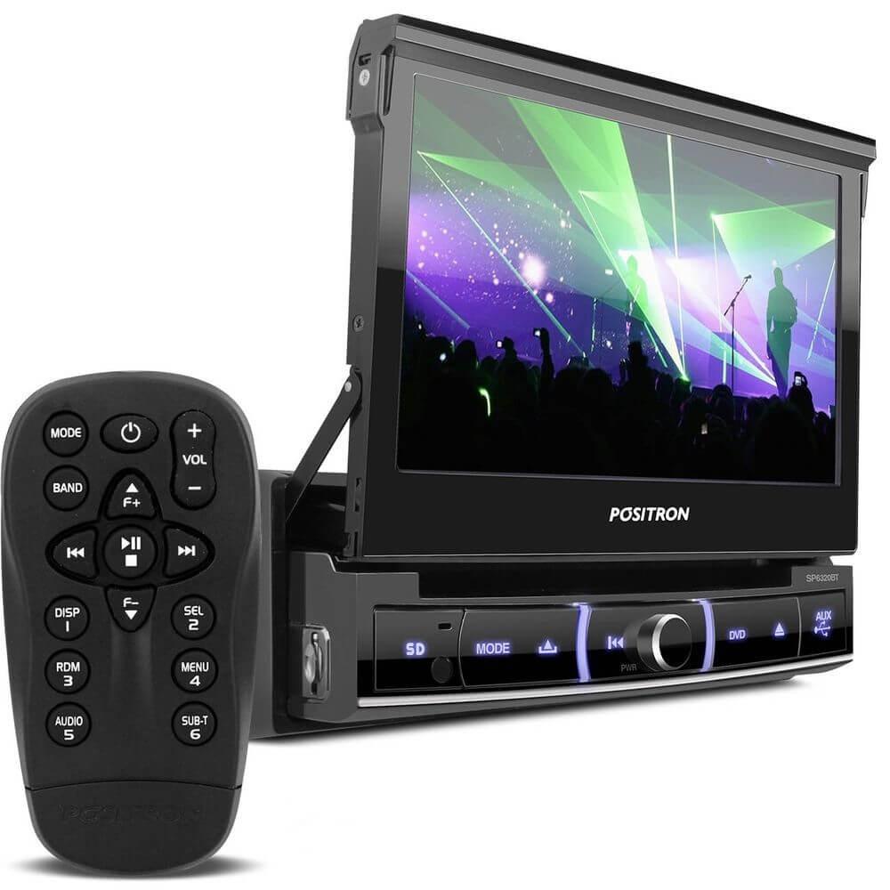 DVD POSITRON SP6320BT RETRATIL TELA 7 ENTRADA USB SD AUXILIAR CD DVD BLUETOOTH AM/FM