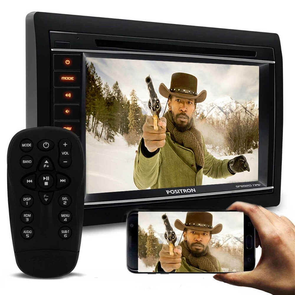DVD POSITRON SP8920NAV 2 DIN TELA 6.2 GPS BLUETOOTH TV MIRROR CONNECT USB SD AUXI P2 CD DVD MP3 AMFM