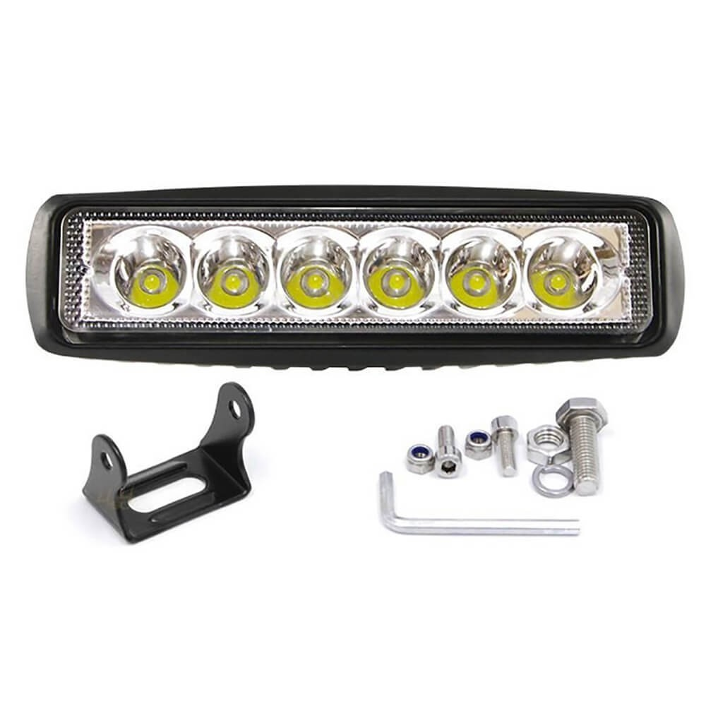 BARRA LED OFF ROAD FAROL DE MILHA 6 LEDS 15 CM 18W LIGHT BAR MK2