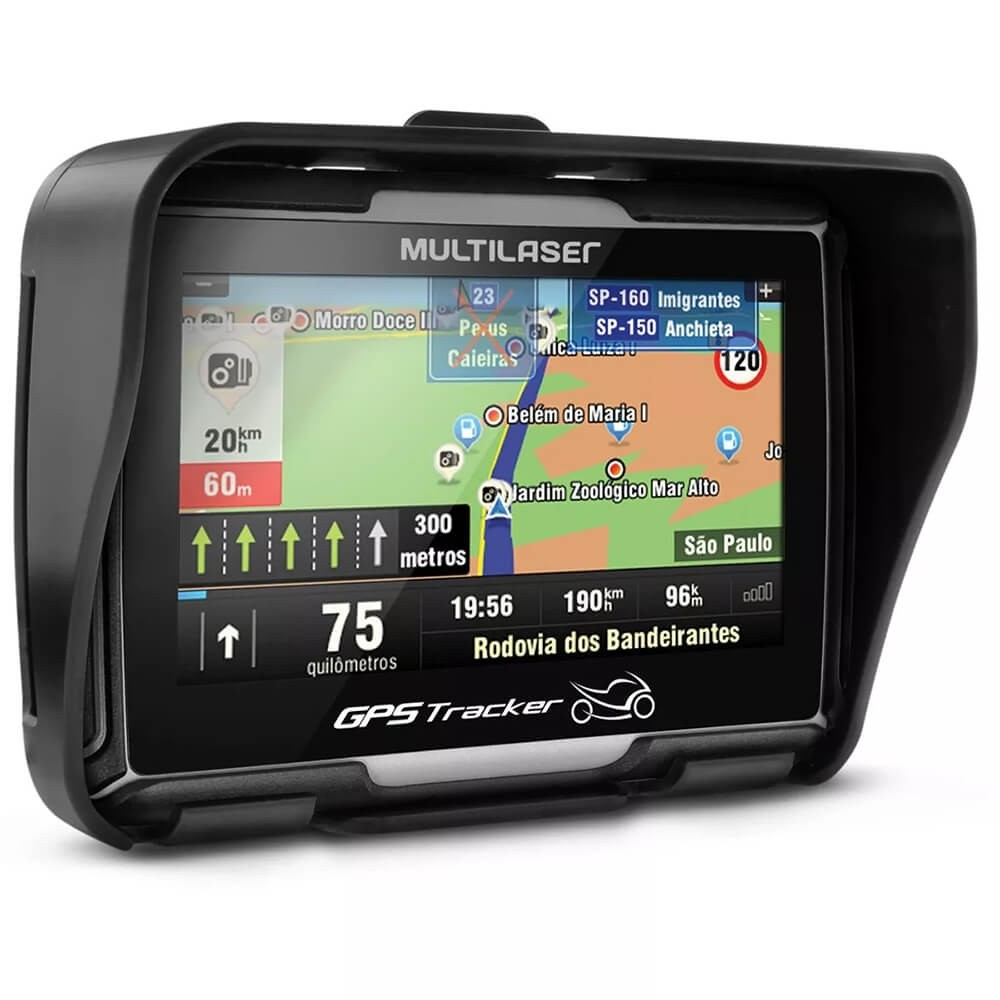 GPS MULTILASER 4.3 PARA MOTO A PROVA DE ÁGUA