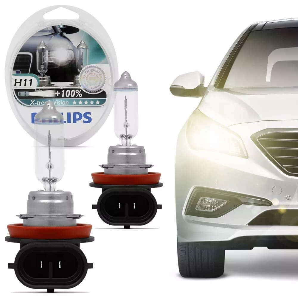 LAMPADA H11 12 VOLTS 55W XTREME VISION PAR PHILIPS 12362XVS2