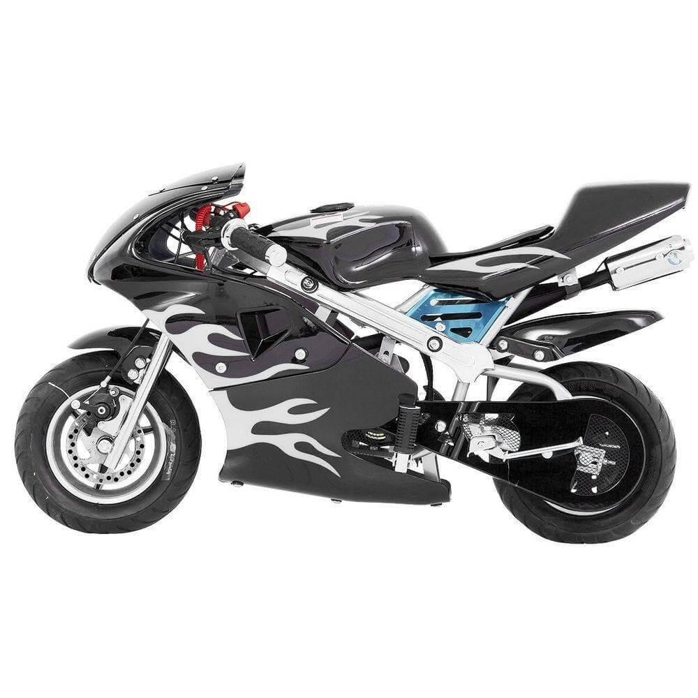 MINI MOTO SPEED PRETA GASOLINA MOTOR 49CC 2 TEMPOS - IMPORTWAY