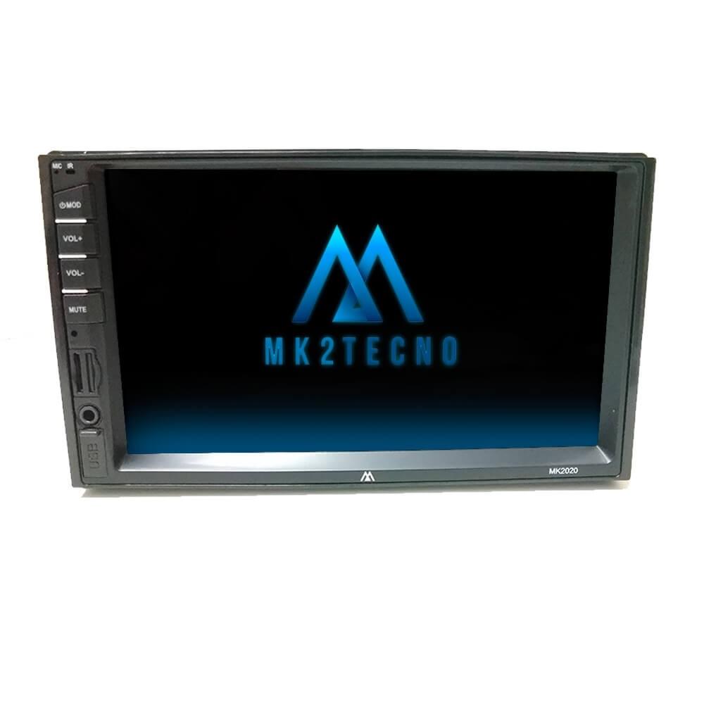 CENTRAL MULTIMÍDIA MK2 MP5 COM ESPELHAMENTO ANDROID E IOS USB SD CARD RÁDIO FM 4X50WTS RMS MK2020