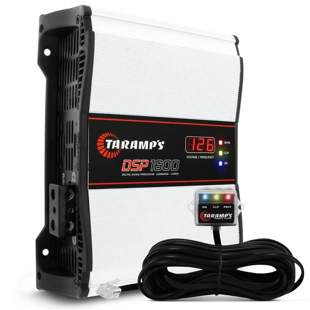 MÓDULO AMPLIFICADOR TARAMPS DSP1600 1600W RMS 4 OHMS 1 CANAL DIGITAL CLASSE D