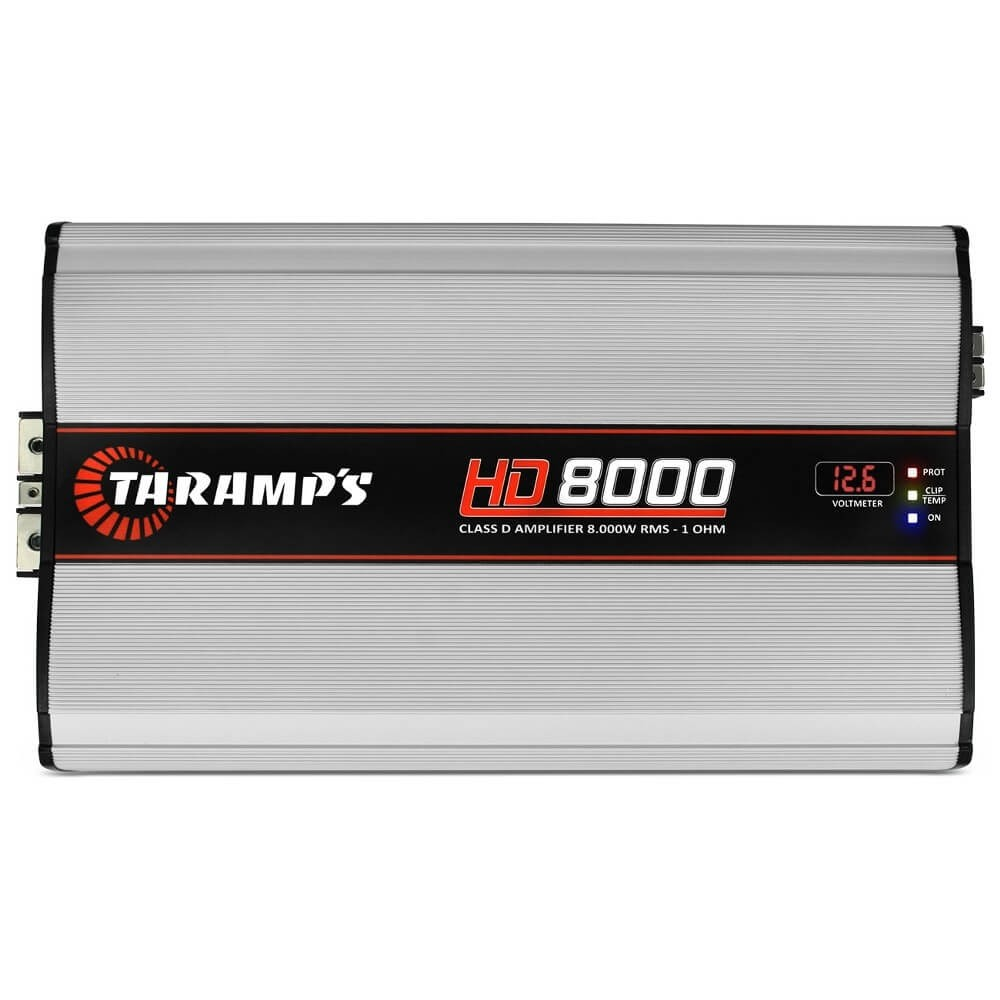 MÓDULO AMPLIFICADOR TARAMPS HD8000 8000W RMS 1 OHM 1 CANAL DIGITAL CLASSE D