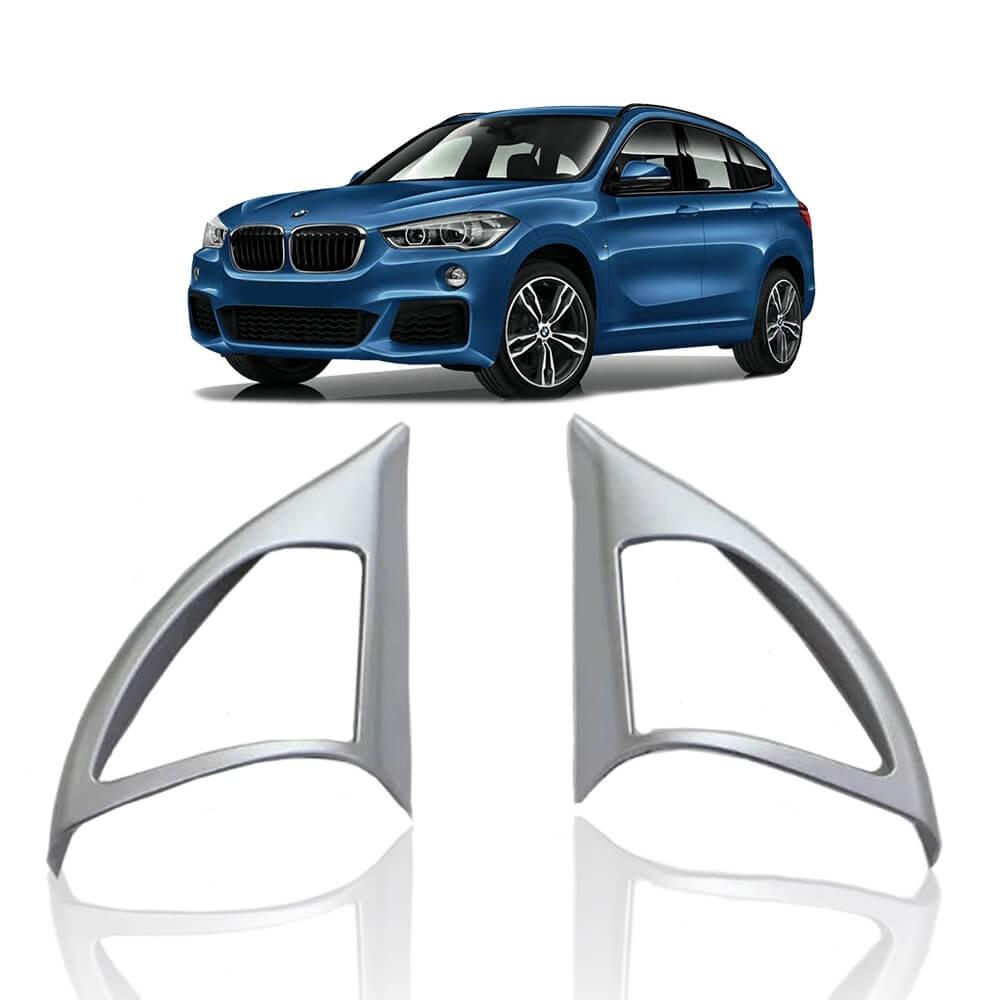 MOLDURA PILAR PORTA INTERNO A BMW X1 2016 PLASTICO COM CROMADO MK2
