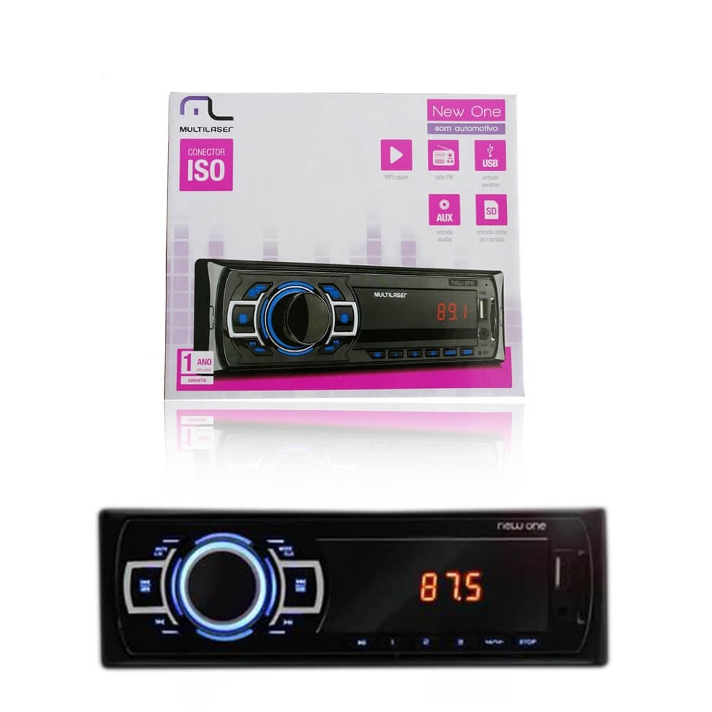 MP3 MULTILASER NEW ONE MP3 PLAYER 4X25W P3318
