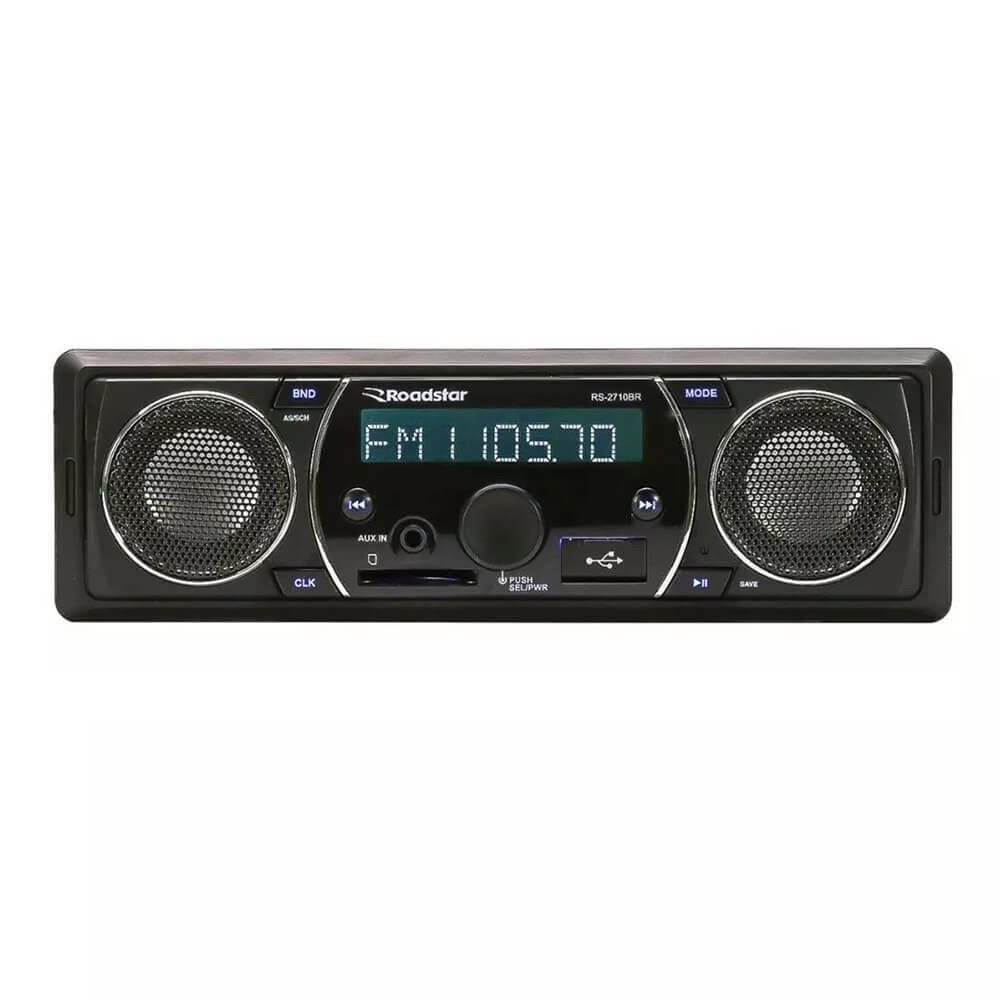 MP3 ROADSTAR RS2710BR COM ALTO FALANTES EMBUTIDOS SD USB FM