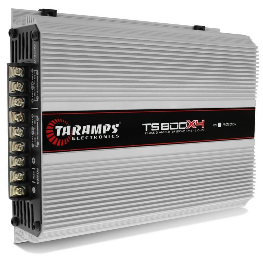 MÓDULO AMPLIFICADOR TARAMPS TS800 4 CANAIS 4X200W RMS 1 OHMS COMPACTO AMPLIFICADOR POTENCIA