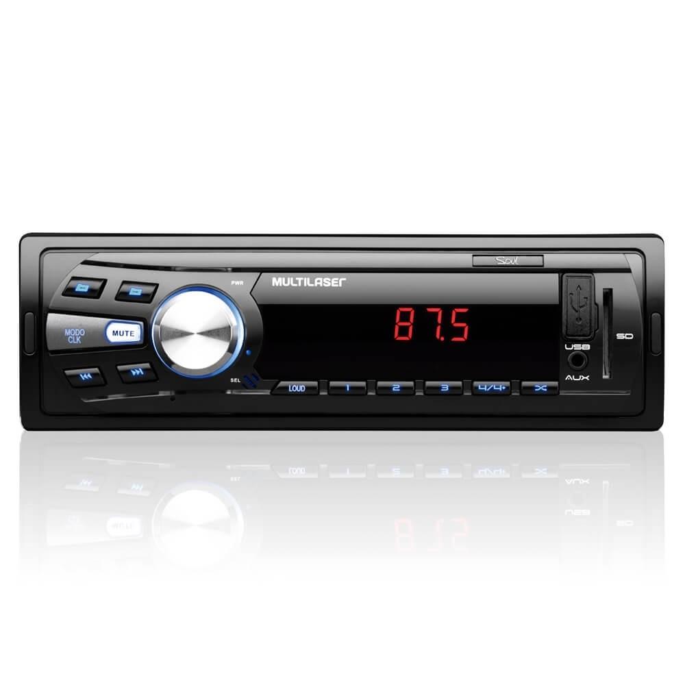 MP3 MULTILASER SOUL USB AUX SD FM COM SELEÇÃO DE PASTAS