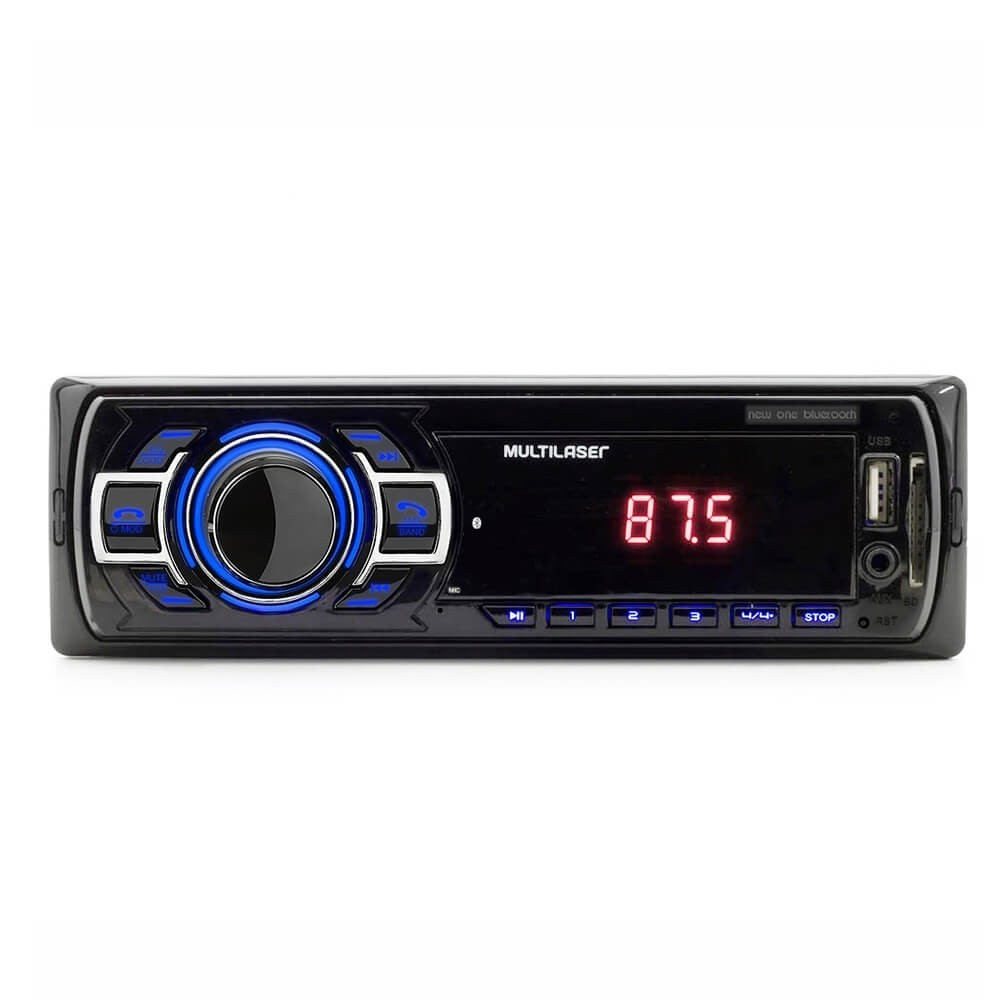 MP3 MULTILASER NEW ONE BLUETOOTH USB SD AUX 4X12,5W P3319P