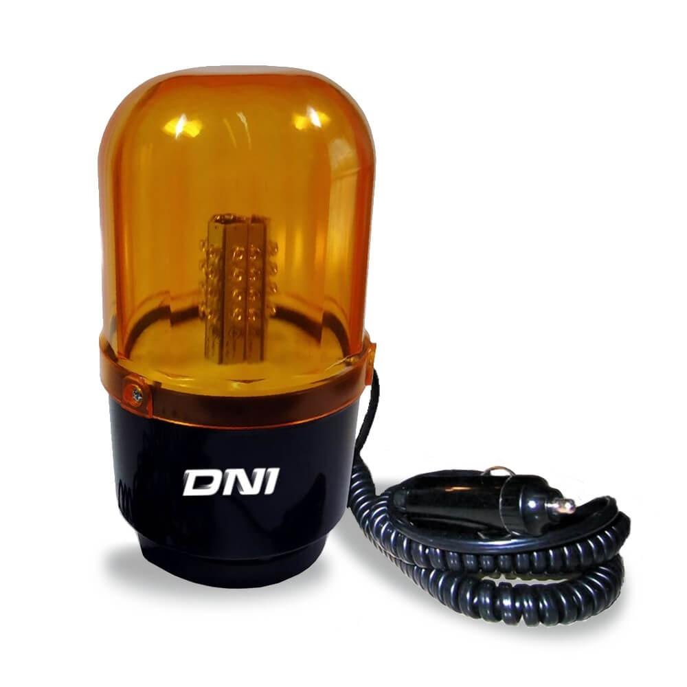 GIROLED SINALIZADOR VISUAL 24 LEDS AMBAR  BIVOLT 12V E 24V DNI 4109