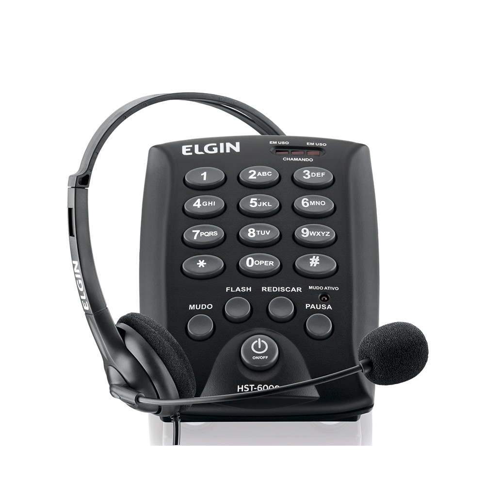 TELEFONE HEADSET TELEMARKETING ELGIN HST-6000