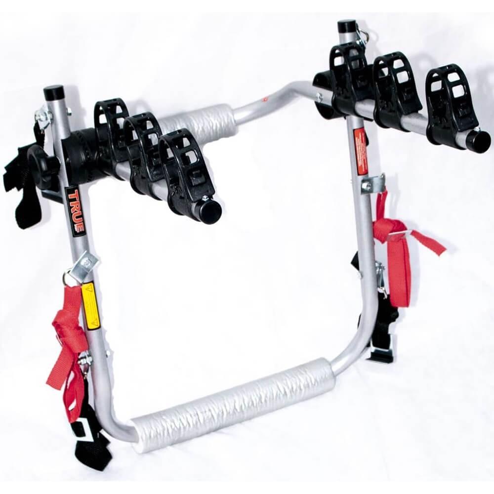 SUPORTE TRANSBIKE FIRE PARA 3 BICICLETAS para carro  SEDAN TRUE SPORTS TR003