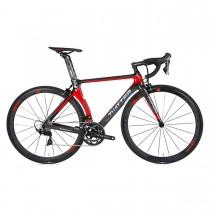 BICICLETA TWITTER T10PRO-DISC BLACK RED 700C RIVAL 22S CARBONO VO6