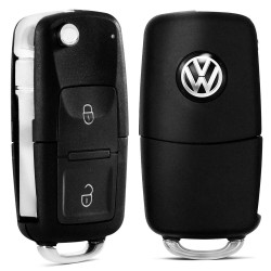 CHAVE CANIVETE MODELO VOLKSWAGEN LED 2 BOTOES