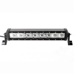 BARRA LED OFF ROAD FAROL DE MILHA 8 LEDS 38 CM 80W 7000 LUMENS LIGHT BAR MK2 9184 80S/F/C