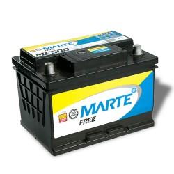 BATERIA AUTOMOTIVA MARTE FREE 50 AMPERES 12V 12,100KG POLO POSITIVO DIREITO - F50LD