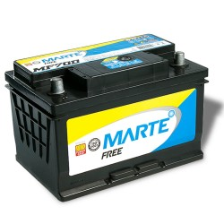 BATERIA AUTOMOTIVA MARTE FREE 70 AMPERES 12V 16,600KG POLO POSITIVO DIREITO - F70D