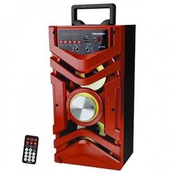 CAIXA SOM ROADSTAR RS731CX VERMELHO 10W +10W RMS BLUETOOTH KARAOKE AUX  FM CONTROLE REMOTO