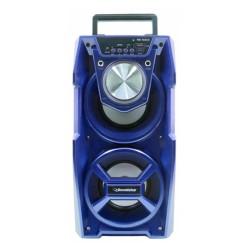 CAIXA SOM ROADSTAR RS732CX AZUL 10W +10W RMS BLUETOOTH KARAOKE AUX FM CONTROLE REMOTO