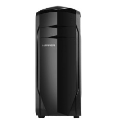 GABINETE GAMER WARRIOR COM LATERAL EM ACRÍLICO E 3 BAIAS INTERNAS PRETO MULTILASER