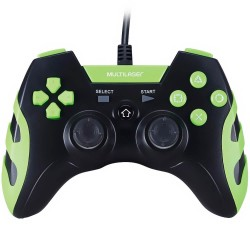 WARRIOR GAMER CONTROLE PS3/PS2/PC PRETO/VERDE  MULTILASER JS081