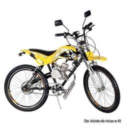 KIT MOTOR PARA BICICLETA 80CC CROMADO GASOLINA 2 TEMPOS IMPORTWAY MOT BICI-C