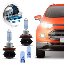 KIT LÂMPADA PHILIPS H11 CRYSTRAL VISION SUPER BRANCA 12 VOLTS 55W 3700K 12362CVUSM