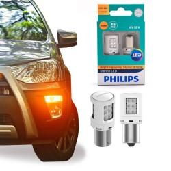 LÂMPADA PHILIPS LED AMBER PY21W LED ULTINON 12v x2 - 11498ULAX2