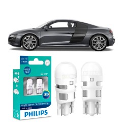 LÂMPADA PHILIPS T10 W5W PINGÃO LED ULTINON 6000K 12 VOLTS 0,6W