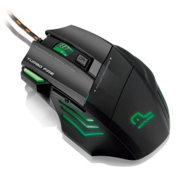 WARRIOR GAMER MOUSE 7 BOTOES 3200 DPI PRETO USB
