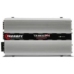 MÓDULO AMPLIFICADOR TARAMPS TS1200 COMPACT 1200W RMS 1 OHM 4 CANAIS