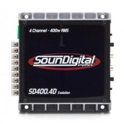 MODULO POTENCIA SOUNDIGITAL SD400.4D EVOLUTION 2 e 4 OHMS