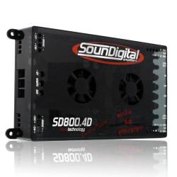 MODULO POTENCIA SOUNDIGITAL SD800-4D 4O EVO 4X200 RMS SOUNDIGITAL SD800-4D 4O EVO