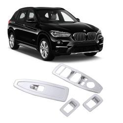 MOLDURA INTERUPTOR VIDRO ELETRICO BMW X1 2016 PLASTICO PINTADO MK2 16X1NFS-YS