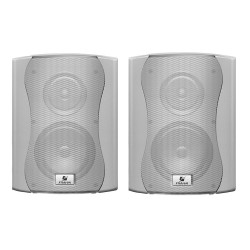 "CAIXA DE SOM PASSIVA PS 6 PLUS WOOFER 6"" + TWEETER 120W RMS (PAR) BRANCO FRAHM"