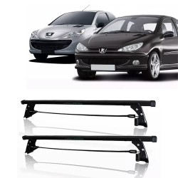 RACK TETO PEUGEOT 206 207 HATCH e SEDAN 4P  LONG LIFE 206-4