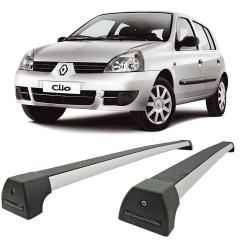 RACK TETO CLIO HATCH SEDAN 2000 EM DIANTE 4 PORTAS MODELO SPORT PRATA LONG LIFE ARCL-4