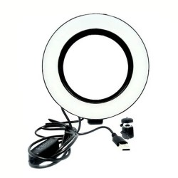 ILUMINADOR RING LIGHT LED ANEL ARO DE LUZ 8 POLEDAGAS