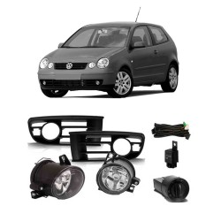 KIT FAROL DE MILHA POLO 2003 ATE 2006 BOTAO MODELO ORIGINAL SHOCKLIGHT SL-261210