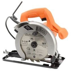 SERRA CIRCULAR 7 1/4 1.500 WATTS 127V BLACK DECKER CS1024BR