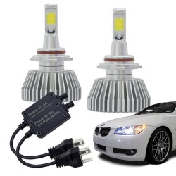 KIT LED HEADLIGHT HB3 2000 LUMENS BIVOLT 6200K MULTILASER AU830