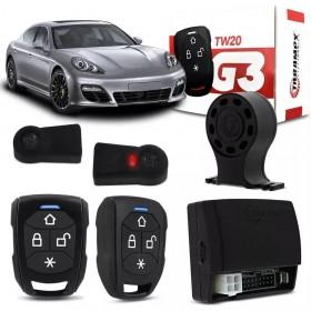 ALARME AUTOMOTIVO TARAMPS COM BLOQUEIO COM 2 CONTROLES TW20 G3